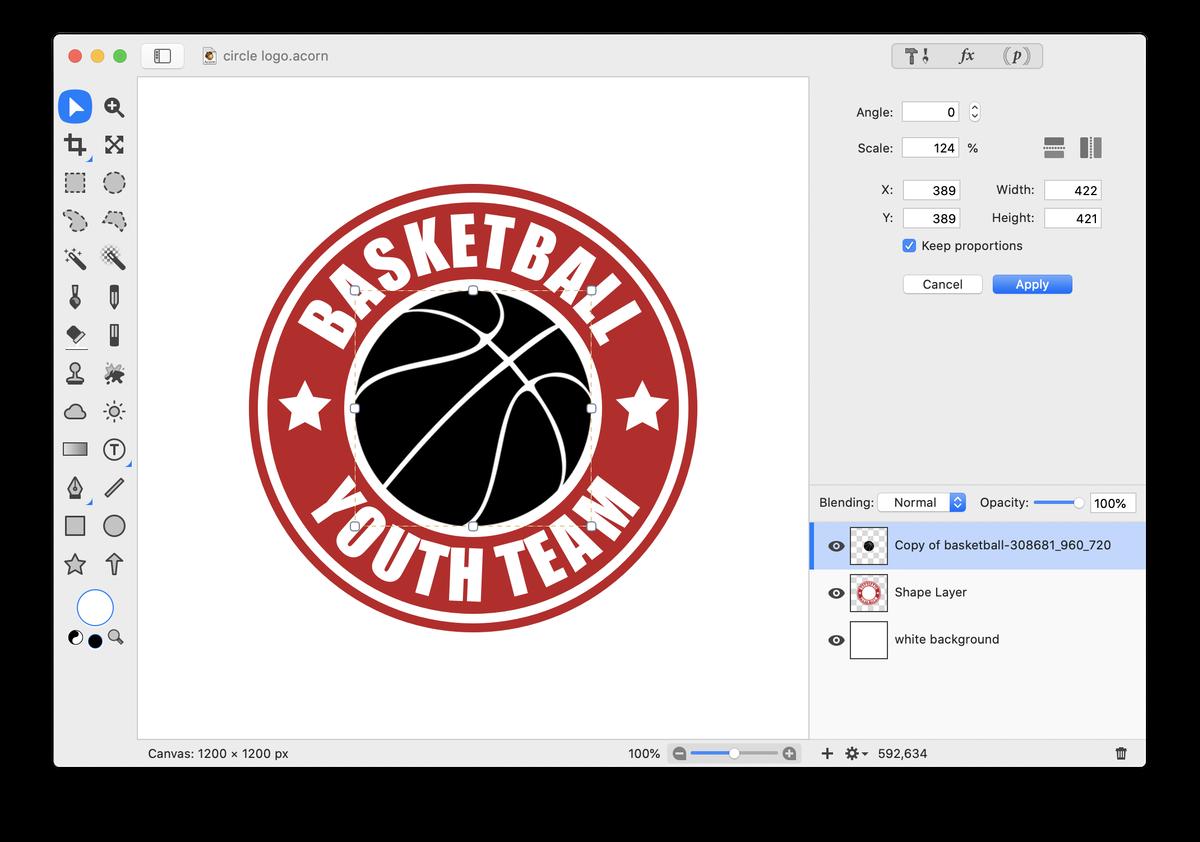 Acorn: Text on a Circle Logo